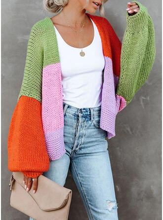 Color Block Casual Sweaters
