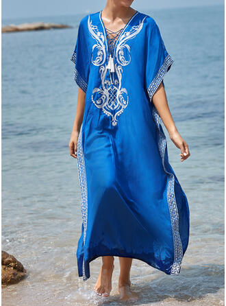 Print Round Neck Elegant Fashionable Cute Cover-ups Swimsuits
