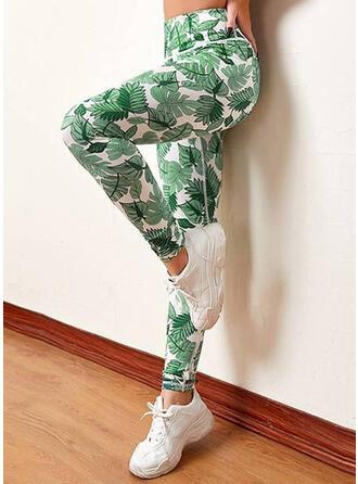 Print Long Sporty Graffiti Lounge Pants