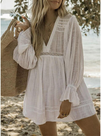 Solid Strapless Elegant Casual Party Cover-ups Swimsuits