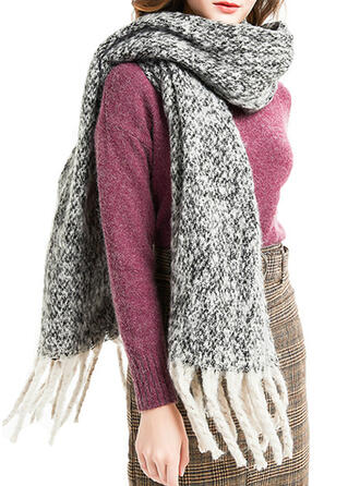 Solid Color/Tassel/Gradient color fashion/Simple Style Scarf