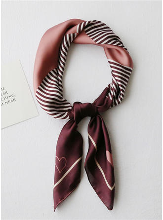 Striped/Retro/Vintage Square/Light Weight Square scarf