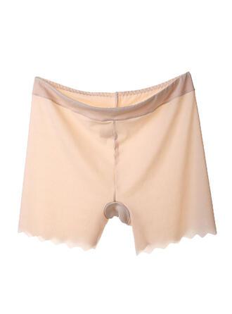 Lace Striped Patchwork Boyshort Panty