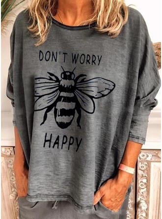 Animal Print Crew Neck Long Sleeves Sweatshirt