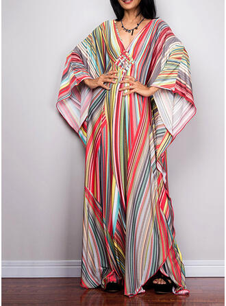 Striped Strapless Eye-catching Sporty Party Cover-ups Swimsuits