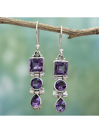 Boho Elegant Alloy Glass Women's Earrings 2 PCS