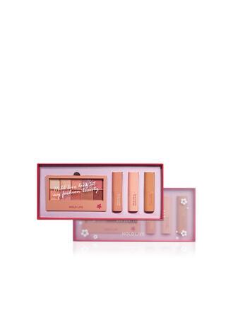 4 PCS Matte Lipsticks Eyeshadow Palette With Box