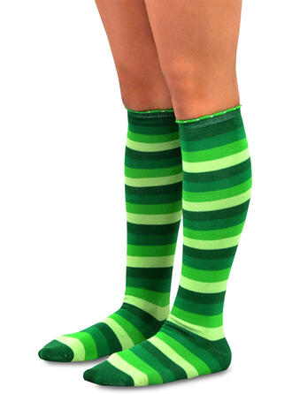 Striped Calf Socks/Unisex/St. Patrick's Day Socks