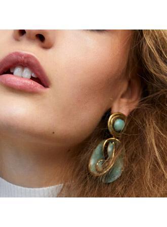 Boho Twist Alloy Resin Women's Earrings 2 PCS