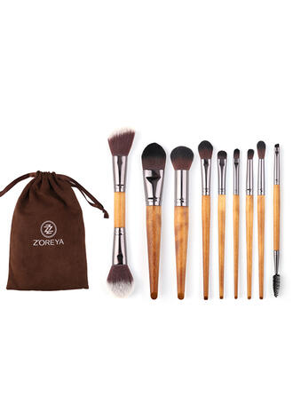9 PCS Two Tone Handle Plain Polyester Makeup brush sets