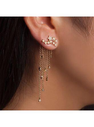 Shining Alloy Earrings