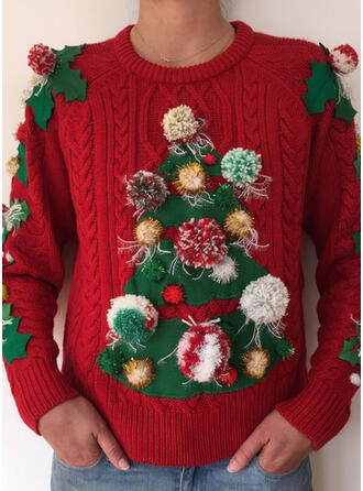Women's Cable-knit Ugly Christmas Sweater