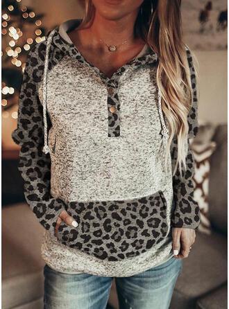 Leopard Long Sleeves Hoodie