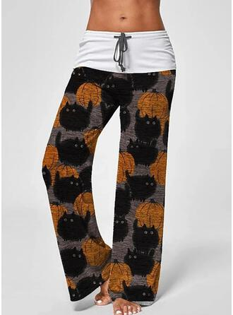 Print Plus Size Halloween Long Casual Sexy Yoga Pants