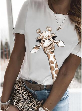 Round Neck Short Sleeves T-shirts