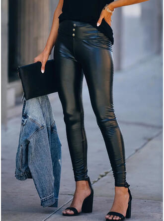 Print Plus Size Sexy Leather Stretchy Leggings