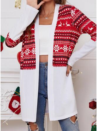 Christmas Long Sleeves Print Jackets