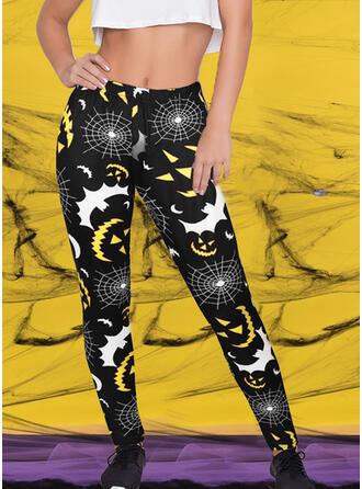 Print Halloween Long Casual Sexy Skinny Yoga Leggings