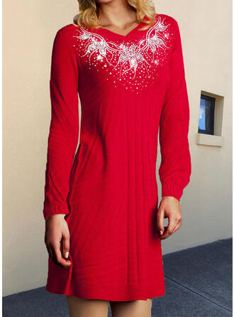Long Sleeves A-line Above Knee/Midi Elegant Dresses