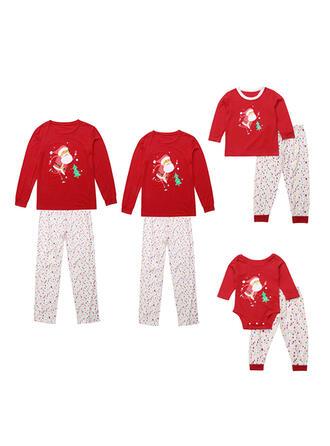 Santa Cartoon Family Matching Christmas Pajamas