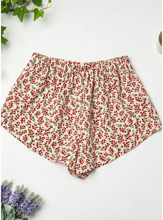 Polyester Print Floral Shorts