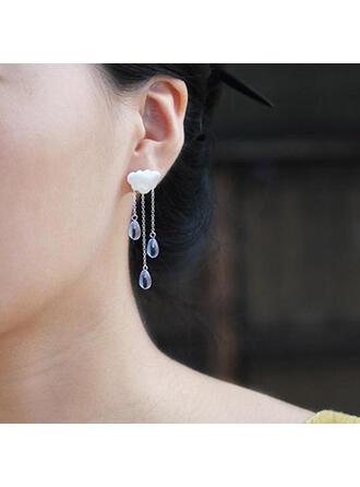 Beautiful Tassels Design Alloy Beads Women's Earrings 2 PCS