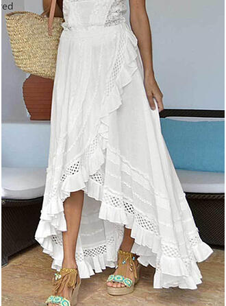 Cotton Blends Plain Asymmetrical Asymmetrical