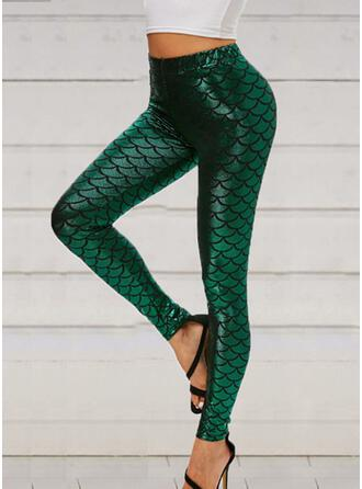Animal Print Sequins Long Sexy Yoga Leggings