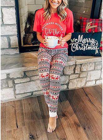 Cotton Short Sleeves Christmas Pyjama Set