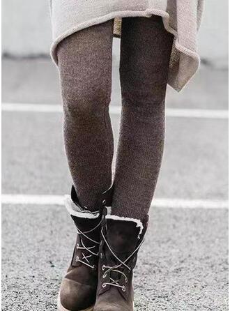 Solid Shirred Plus Size Long Elegant Sexy Pants Leggings