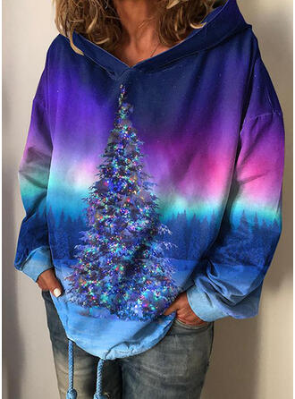 Tie Dye Forest Long Sleeves Christmas Sweatshirt