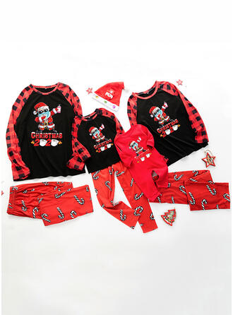 Santa Plaid Letter Family Matching Christmas Pajamas