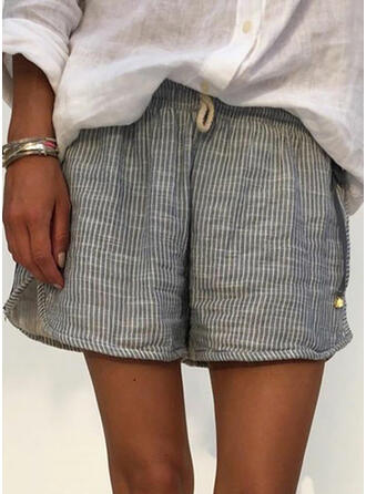 Solid Casual Solid Shorts