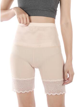 Nylon Chinlon Lace Plain Patchwork Jacquard Shapewear
