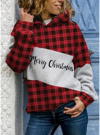 Grid Figure Long Sleeves Christmas Sweatshirt