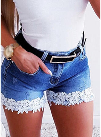 Floral Lace Sexy Skinny Shorts