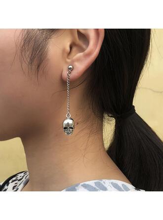 Skull Halloween Alloy Earrings 2 PCS
