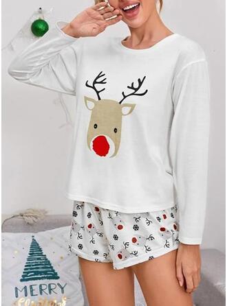 Cotton Long Sleeves Cartoon Christmas Pyjama Set