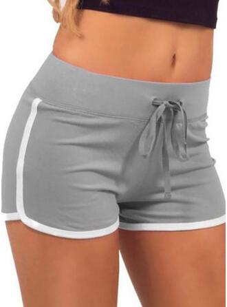 Color Block Casual Sexy Drawstring Pants Shorts