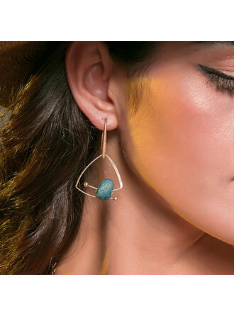 Unique Beautiful Alloy With Beads Earrings 2 PCS