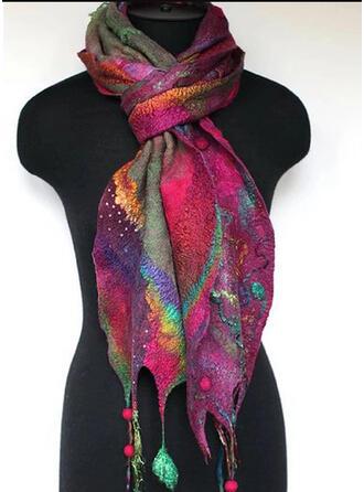 Retro/Vintage/Tassel/Colorful fashion/Multi-color Scarf