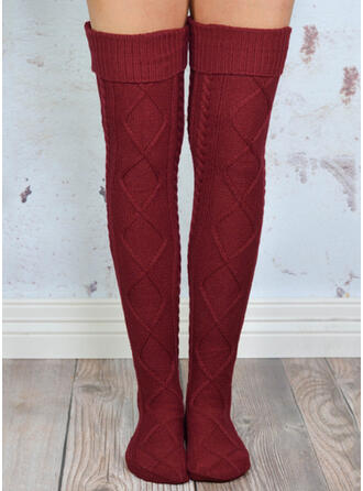 Solid Color Comfortable/Knee-High Socks Socks/Stockings