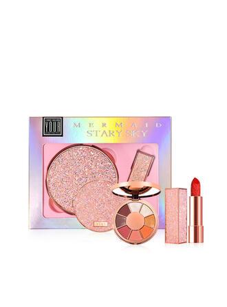 2 PCS Matte Lipsticks Eyeshadow Palette With Box
