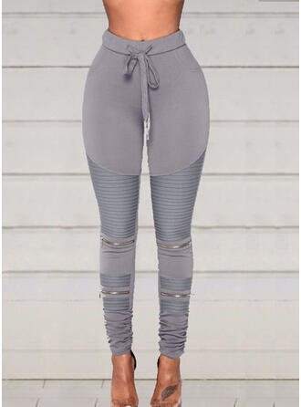 Shirred Plus Size Drawstring Long Sexy Sporty Yoga Leggings