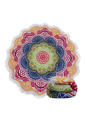 Floral/Retro/Vintage/Tassel/Bohemia/Geometric/Colorful Light Weight/Boho/Multi-functional/Leaves Shaped/Sand Free/Quick Dry Beach Towel