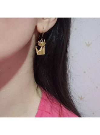 Vintage Charming Fox Alloy Women's Earrings 2 PCS