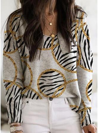 V-Neck Long Sleeves Sweatshirt
