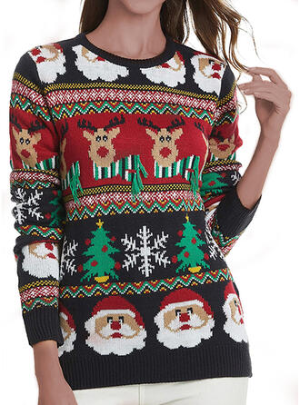 Unisex Polyester Print Santa Reindeer Ugly Christmas Sweater