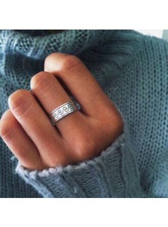 Unique Simple Alloy Women's Rings