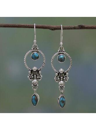 Boho Charming Alloy Turquoise Earrings 2 PCS